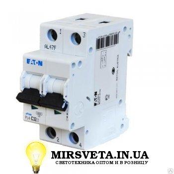 Автоматический выключатель 2п 16А  PL4-C16/2 Eaton