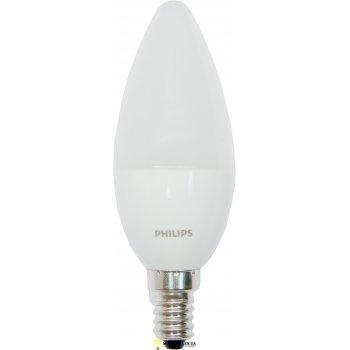 Светодиодная лампа 6Вт CorePro candle ND 6-40W E14 827 B39 FR свеча PHILIPS