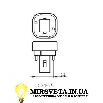 Лампа енерго сберегающая компактно люминесцентная PL-C  18W/830/2P Philips