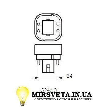 Лампа енерго сберегающая компактно люминесцентная PL-C  26W/830/4P Philips